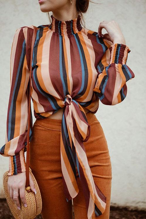 Striped Blouse Shirt