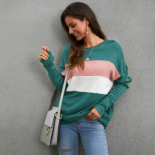Striped Baggy Style Sweatshirt