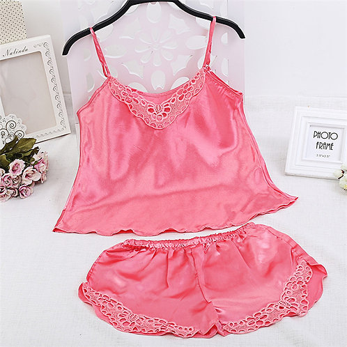 Lace Sleepwear Sling Tops Shorts
