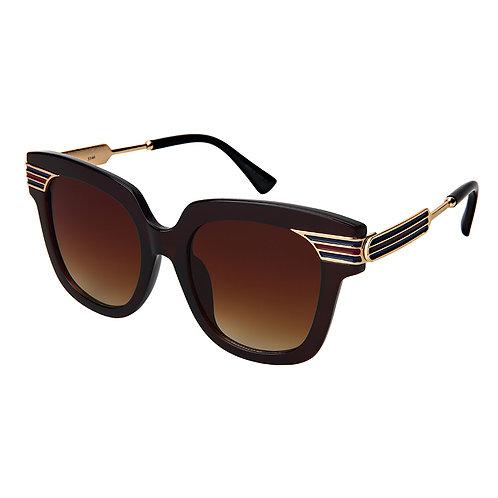Cat Eye Solid Frame Sunglasses
