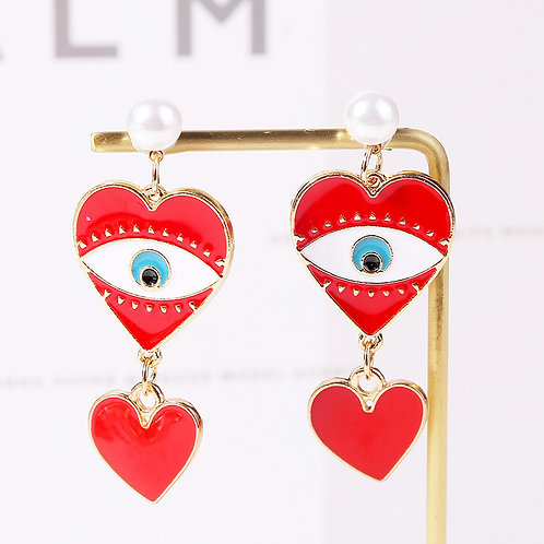 Heart Dangling Earring