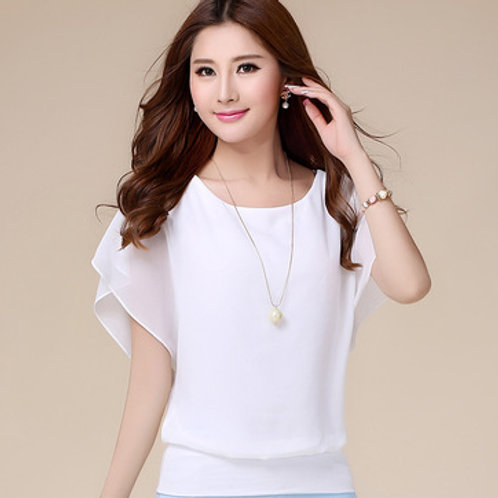 Chiffon Casual Short Sleeve Blouse
