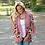 Thumbnail: Floral Print Loose Puff Sleeve Kimono