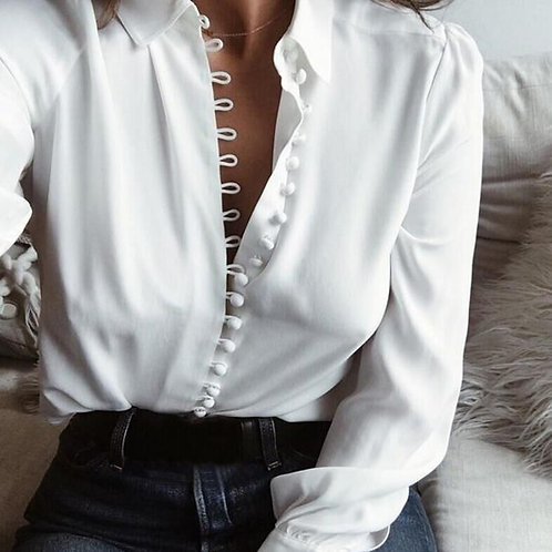Summer Button Down Blouse