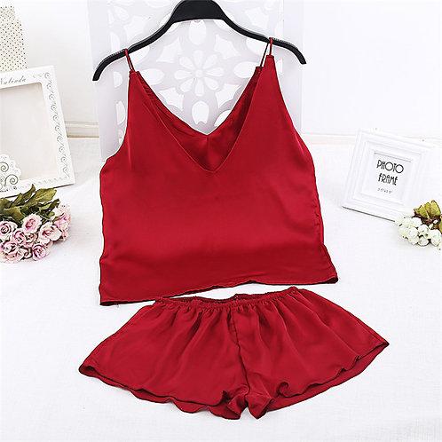 Lace Sleepwear Sling Tops Shorts