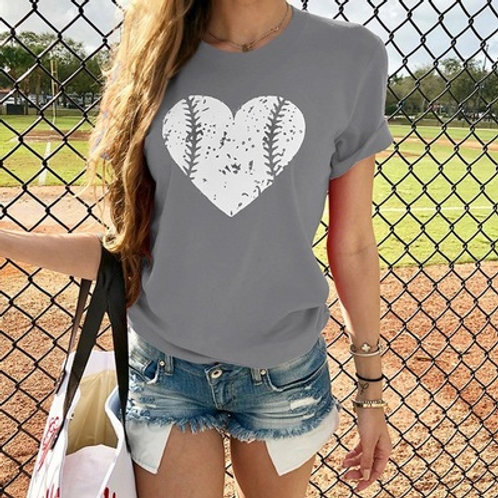 Heart Design Baseball T-shirt  OUT OF STOCK