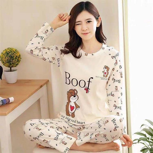 Boof Print Pajama set
