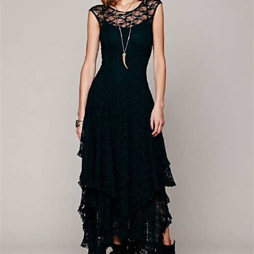 High and Low Lace Party Long Dress