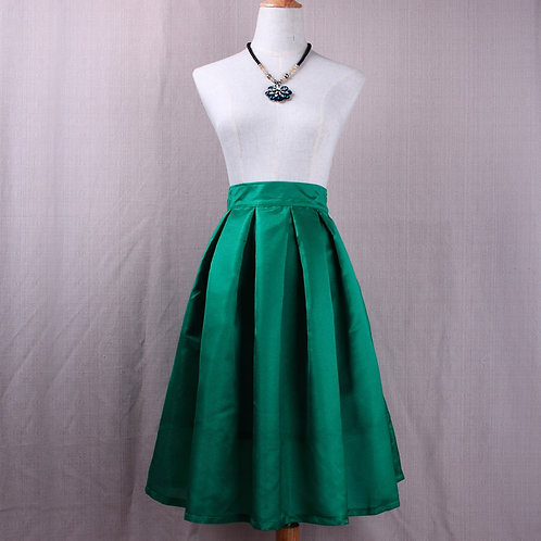 Satin Silk Midi Skirt