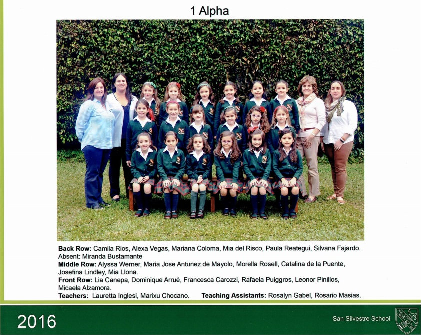 2016- Class photo SS, 1 alpha, Miss Laur