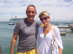 Alex Kouri y Andrea Llona vacaciones