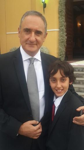 Alex y Mateo- papá e hijo