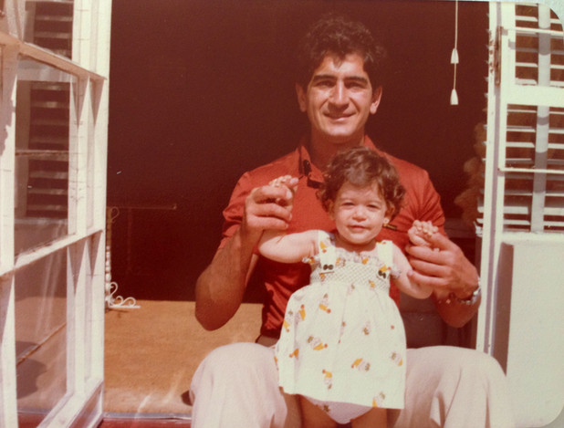 Papá e hija- Felipe y Andrea LLona