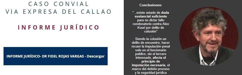 Dr Fidel Rojas Vargas - Experto en colusión desleal