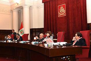 Audiencia caso convial Alex Kouri- Segunda Sala Penal- Jueces de derecha a izquierda: Dras. Chávez, Pacheco, Dres. Hinostroza, Ventura, Cevallos