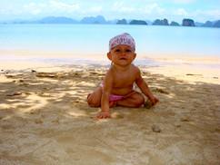 Primera vez en la playa 2009
