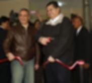 Alex Kouri inaugurando obra