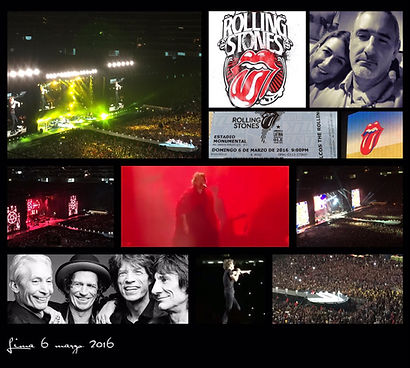 Alex Koui y su novia Andrea LLona asisten al concierto de The Rolling Stones, Lima 6 marz 2016