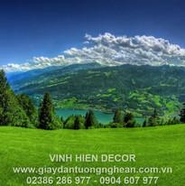 greens_grass_mountains_slope_lake_trees_
