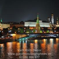 city_moscow_night_lights_bridge_reflecti