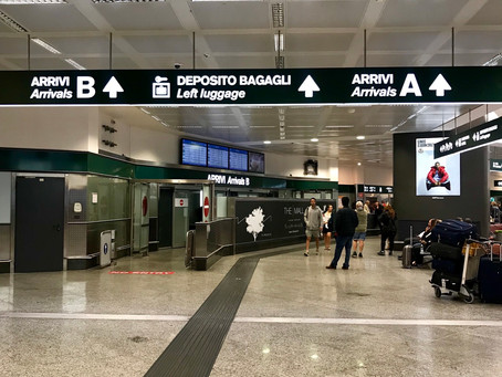 How did I travel from Malpensa Airport Terminal 1 to Toscolano Maderno?