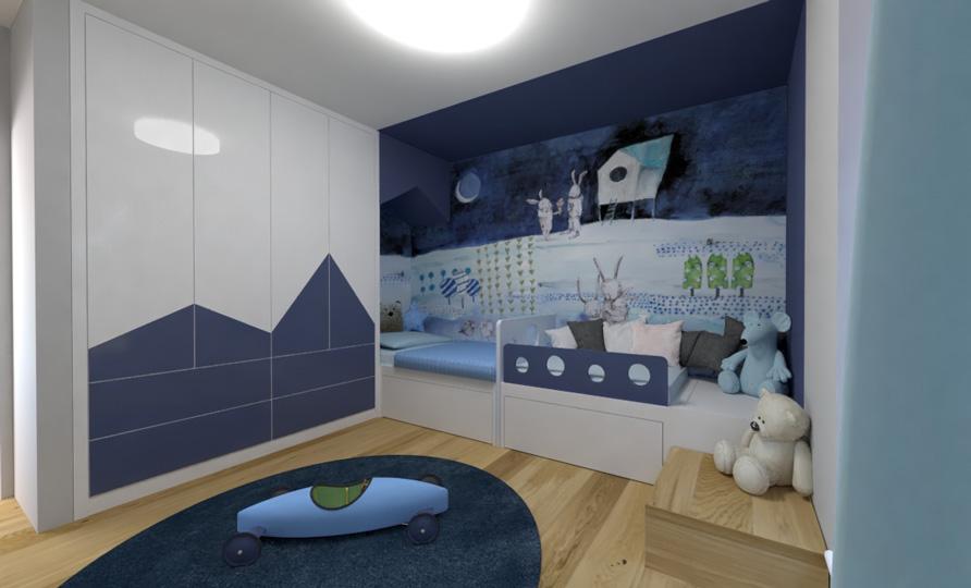 Dětská ložnice s nočním motivem