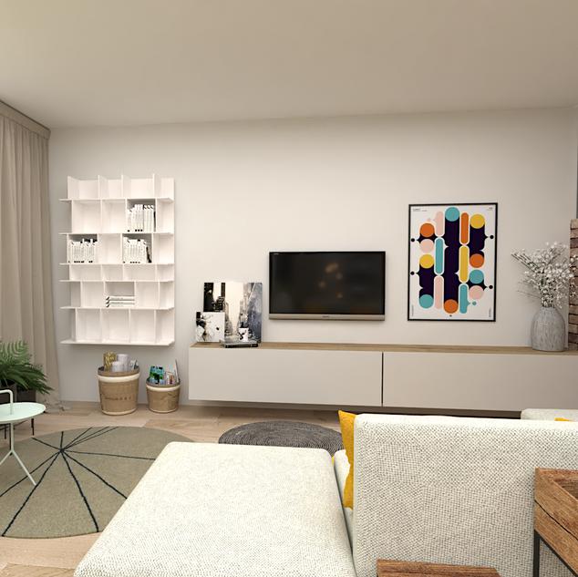 Relaxační prostor v obytném prostoru