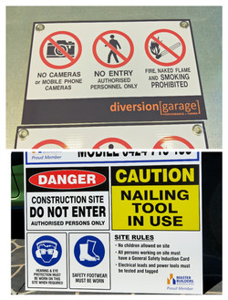 Builders and No Entry Signs