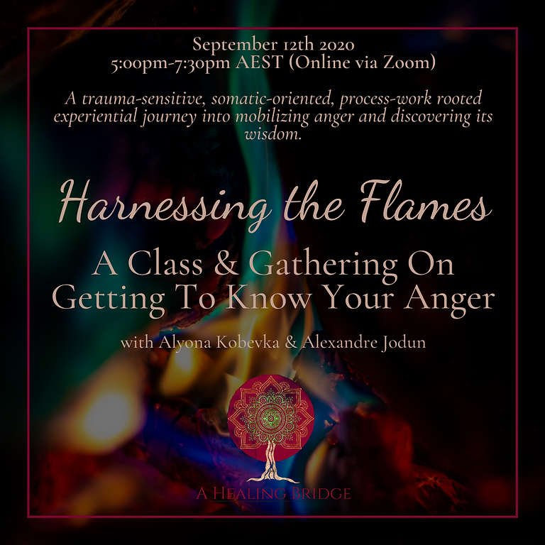 Harnessing the Flames: A Class & Gathering On Getting To Know Your Anger