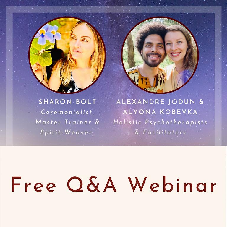 FREE ONLINE Q&A WEBINAR WITH SHARON BOLT