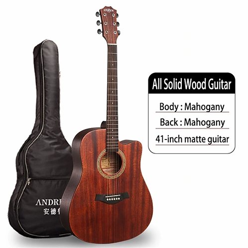Andrew Acoustic Guitar (4 sizes,  Multiple Wood Options)
