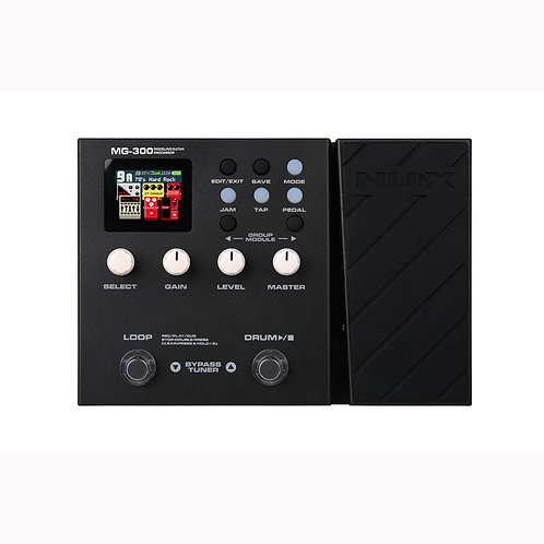 NUX MG-300 Multi-Effects Pedal (Amp Modeling, Loop Recording, Drum Machine)