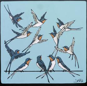 Twelve Swallows