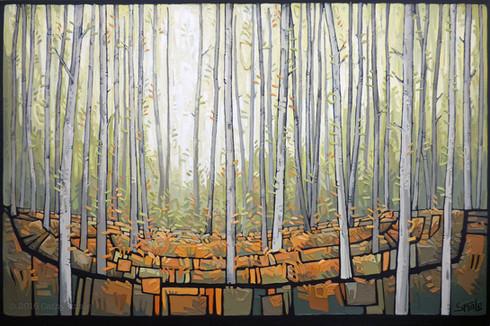 Woodland Trees - Falling Leaves (03)