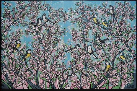 In the trees - Blossoms and Birds