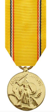 American Defense Service Miniature Medal
