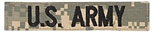 us army name tape