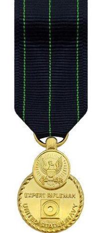 Miniature Navy Expert Rifleman Medal