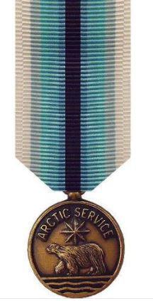 Coast Guard Arctic Service Medal Miniature