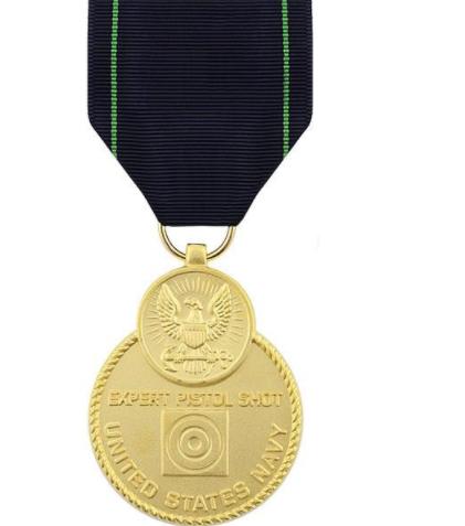 Navy Expert Pistol Shot Medal