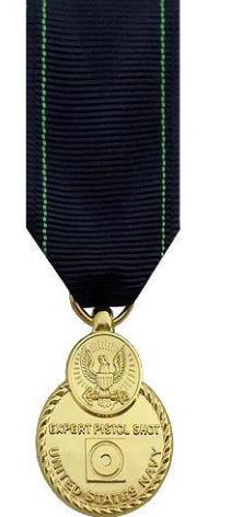 Miniature Navy Expert Pistol Shot Medal