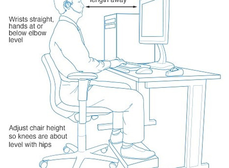 The best way to set up your desk to avoid injury and improve comfort.