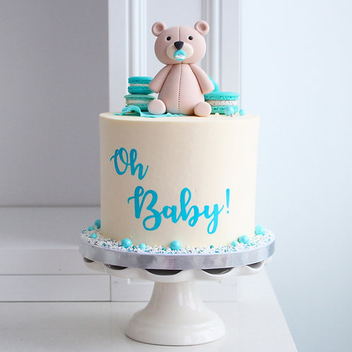 "Baby Teddy Shower Cake 6"""