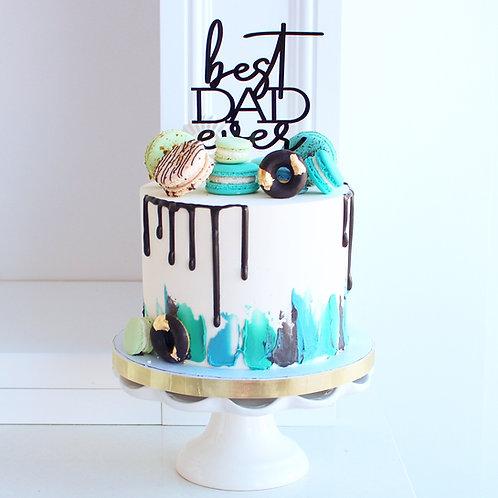 """6"""" BestDad! Cake"""