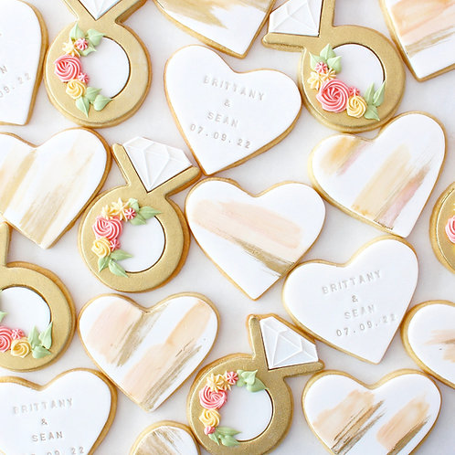 Heart Engagement Set 12 Sugar Cookies