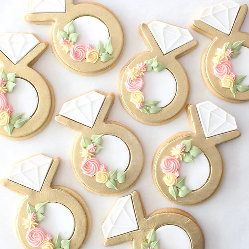 Engagement Rings 12 Sugar Cookies