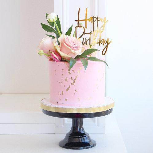 Gold Splatter Cake