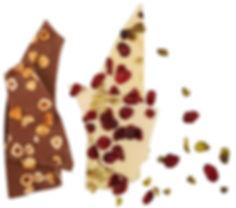שברי שוקולד עם פירות יבשים