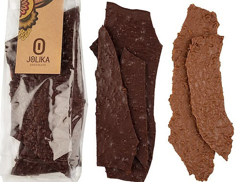 דפי שוקולד עם שבבי קרמל ומלח ים