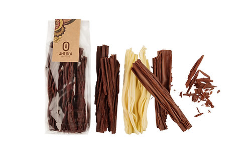 קיפולים של שוקולד מריר חלב או לבן